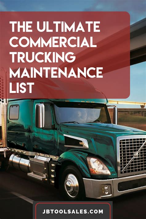 The Ultimate Commercial Truck Maintenance Checklist - JB
