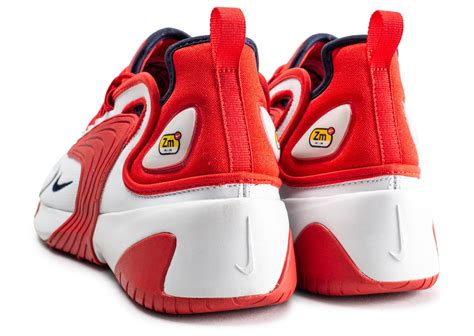 Nike Zoom 2K blanche et rouge - Chaussures Baskets homme