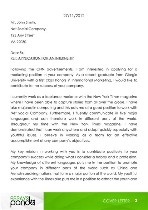 Perfect Cover Letter | essays-panda