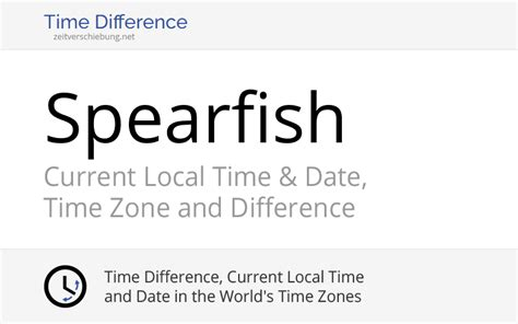Current Local Time in Spearfish, United States (Lawrence