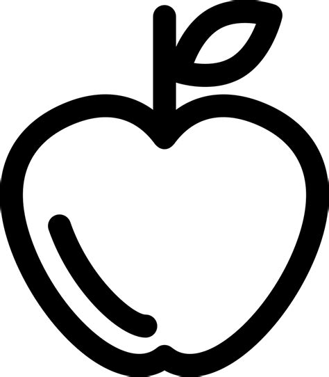 Apple Outline Svg Png Icon Free Download (#43204