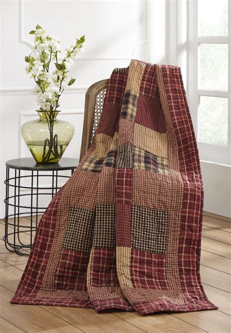 Rutherford Quilted Throw | Country Primitive Quilt – DL