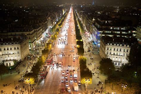 Champs-Elysees Nightlife (Self Guided), Paris, France