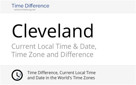 Current Local Time in Cleveland, United States (Cuyahoga