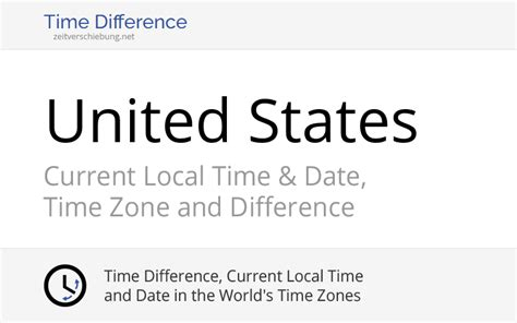 United States, North America: Current Local Time & Date