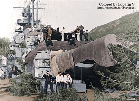 Colorizations By Users - Battleship Tirpitz in a Norwegian