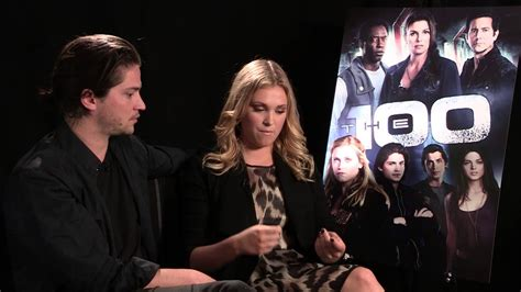 The 100 - Thomas McDonell and Eliza Taylor interview - YouTube