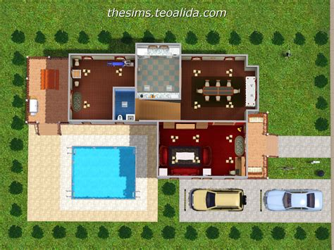 L-Shaped House   The Sims fan page
