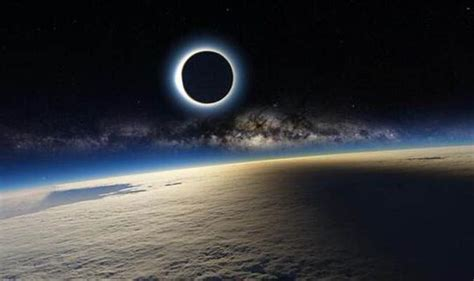Solar Eclipse image 'taken' from ISS and posted on Twitter