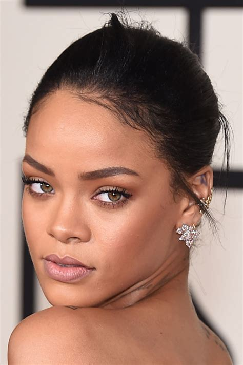 Rihanna Straight Updo Hairstyle | Steal Her Style