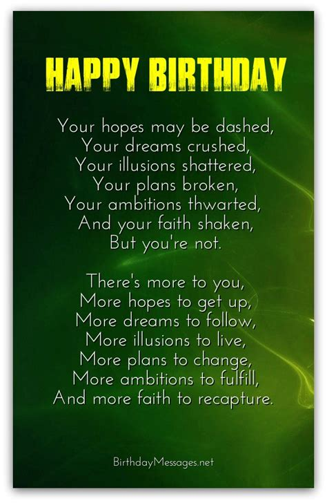 Inspirational Birthday Poems - Page 2