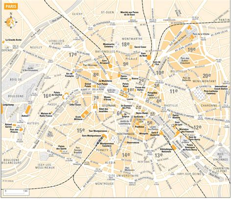 Paris Street Map with Metro - Maplets