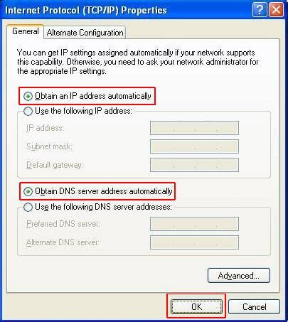 How to configure wired TCP/IP Properties of my computer