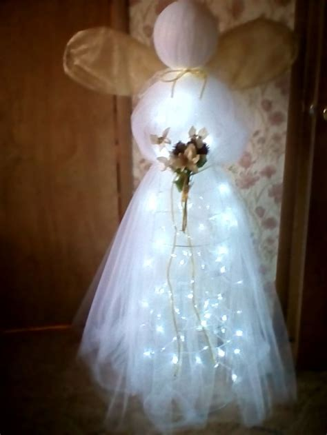 Pin by Darlene Beishline on tulle/ tomato cage angel | Diy
