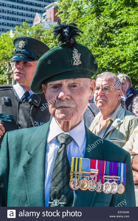 A veteran of the Royal Ulster Rifles Commemorates the 98th