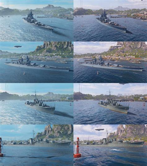 World of Warships - new light engine - pictures comparison