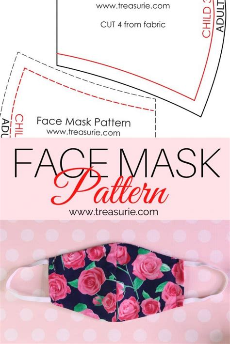 Face Mask Pattern - DIY Mask in 2 Styles (FREE in 2020