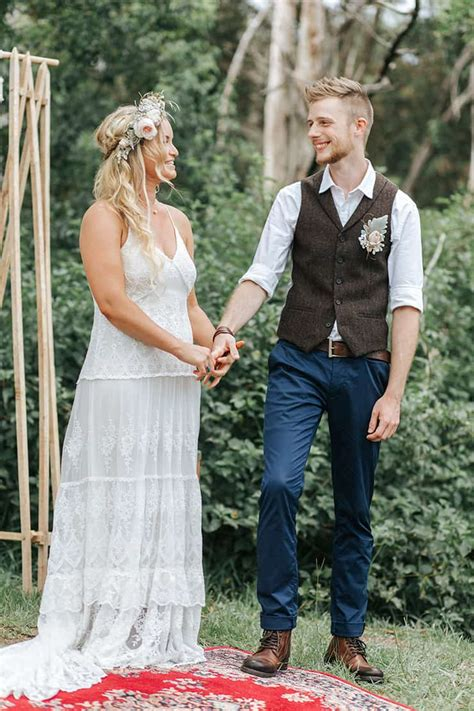 A Relaxed Boho Wedding in a Charming Country Hall